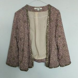Floral and Sequin Light Blazer